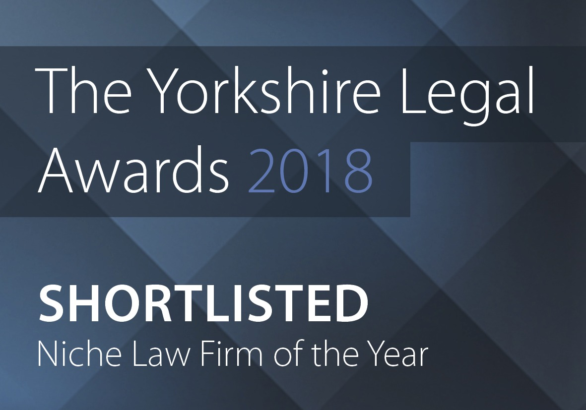 Yorkshire Legal Awards Shortlist - Niche Firm of the year