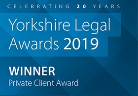 Yorkshire Legal Awards Private client 2019